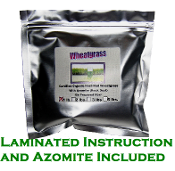 1 Pound Organic Wheatgrass-Azomite & Laminated Instructions